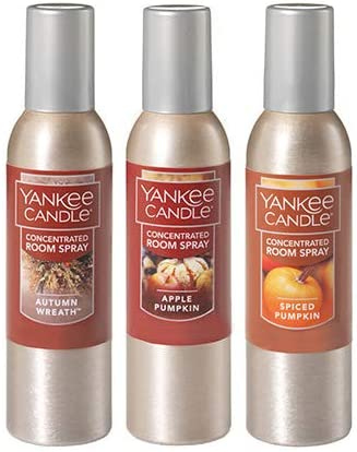 Yankee Candle Autumn Favorites 3-Pack Concentrated Sprays Seasonal Wrap Introduction 2021 new Room