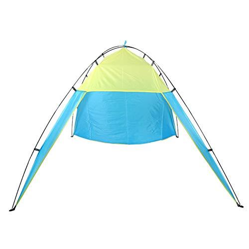 Qqmora Tienda de Pesca fácil de almacenar Tienda de sombrilla compacta de fácil expulsión, Camping al Aire Libre(Blue, Double)