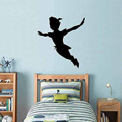 Muursticker,Stripfiguur vinylbehang verwijderbaar voor kinderkamer Kinderkamer Meisjes Home Art Decals Slaapkamer Muurschilderingen 57x63cm