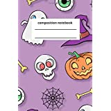 halloween composition notebook: college notebook