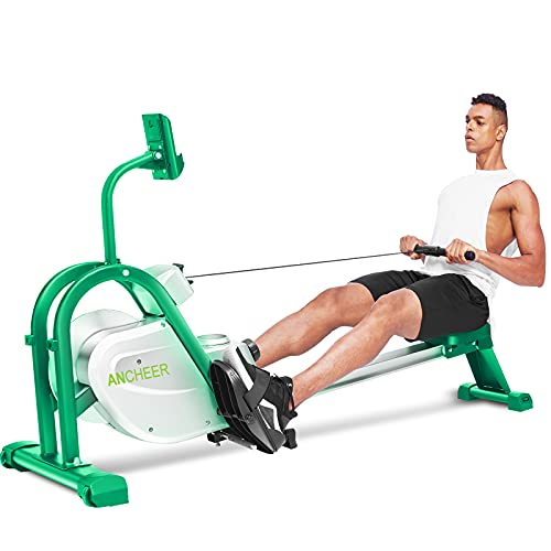 ANCHEER Rowing Machine, Magnetic Rowing Machine Rower with LCD Monitor