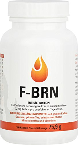 Vihado F-BRN - Grüne Kaffeebohnen, Grüner Tee, Guarana, 100 Kapseln, 1er Pack (1 x 75,9 g)