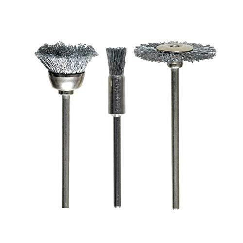 KWB Brosse métallique de 3 pièces en acier HSS fil ondulé, 5180–00