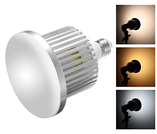 Hersmay 95 LED Videoleuchte 5500K-3200K Dimmbar E27 LED Videolicht Fotolicht Softbox Studio Dauerlicht Kit für Kamera Foto Video Fotografie Fotoleuchte mit drahtloser Fernbedienung