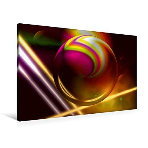 Premium Textil-Leinwand 90 x 60 cm Quer-Format Moderne Technoträume | Wandbild, HD-Bild auf Keilrahmen, Fertigbild auf hochwertigem Vlies, Leinwanddruck von Heidemarie Sattler