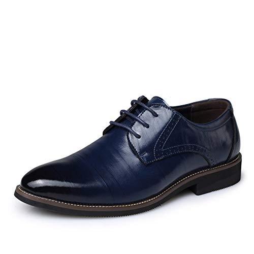 Zapatos de Vestir de Hombre de Negocios XOCKYE, Zapatos de Cuero con Cordones Oxfords Oxford Tuxedo Zapatos de Charol Brogue Wedding Derby Leather
