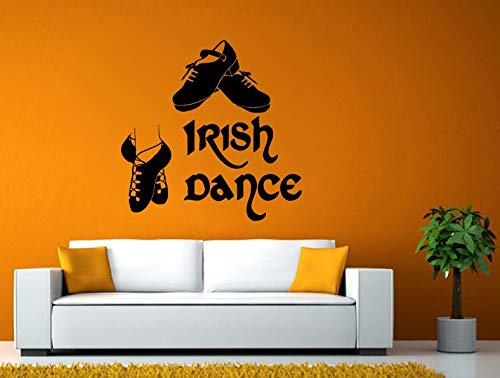 Wall Decals Cute-Irish Dance Shoes Celtic Culture History Wall Stickers Decals Vinyl Mural Decor Art - Made in USA-Fast delivery