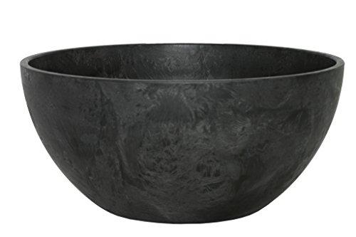 Ivyline Artstone 120090 Schale Fiona, 31 x 15 cm, schwarz