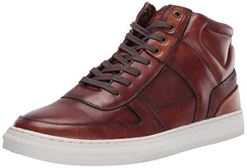 Steve Madden Men's Shoutout Sneaker, Cognac Leather, 10.5 M US