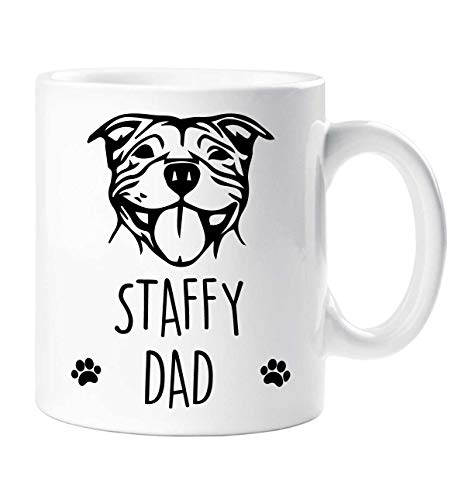 Staffy Taza Staffy Dad Mascota Regalo Amantes de los Perros Staffordshire Bull Terrier Día de Padres