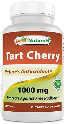Best Naturals Tart Cherry Extract 1000 mg (Non-GMO) Veggie Capsules - Promotes Healthy Uric Acid Levels Within Normal Range, Healthy Joint Function & Promotes Healthy Sleep Cycle, 60 Count