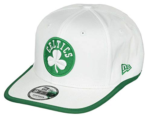 New Era Boston Celtics NBA - Gorra de baloncesto ajustable, color blanco