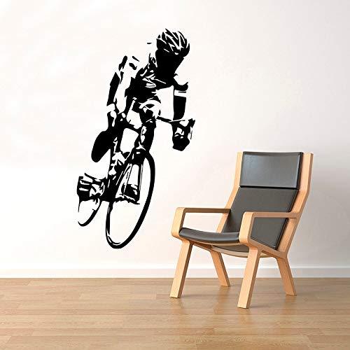 Ciclista Bicicleta Bicycly Cycle Race Casco deportivo Jugador Etiqueta de la pared Vinilo Art Decal Boy Fans Dormitorio Sala de estar Studio Club Office Decoración para el hogar Mural