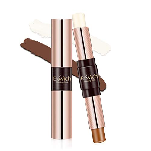 Onlyoily Kontur Stift Highlighter,Concealer Contouring und Highlighter in einem, 2 Colour Make up Concealer contouring stift, Bronzer, Kontur stift Und Highlighter Make-Up Für Jeden Hauttyp