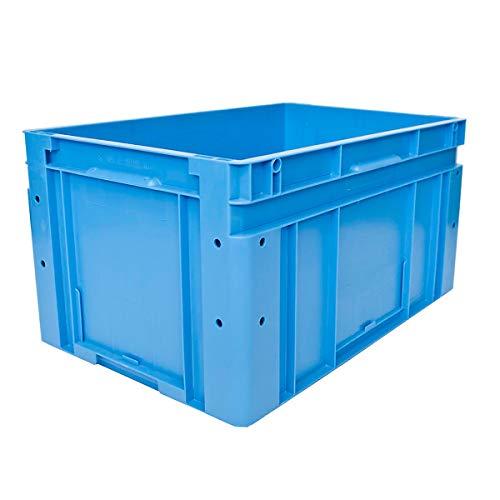 utz Euronorm-Stapelbehälter - Außen-LxBxH 600 x 400 x 320 mm - blau, VE 1 Stk - Box Euronorm Stapelkasten Euronorm Stapelkästen Euronorm-Stapelbehälter Euronorm-Stapelkasten Kiste Lagerkasten