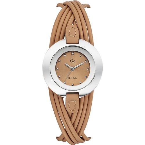 Go girl only Damen Analog Quarz Uhr mit Leder Armband 698122