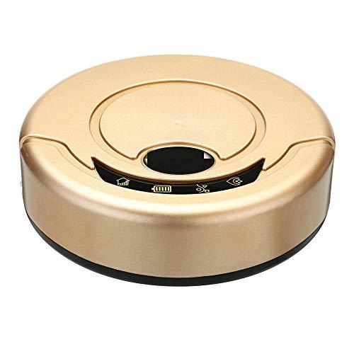 VHGYU Aspiradora Robot Barredora De Limpieza De Aspiradora Robot Inteligente Automática Recargable Negra/Dorada Barredora Automática (Size:19.5 X 5.6cm; Color:Gold)