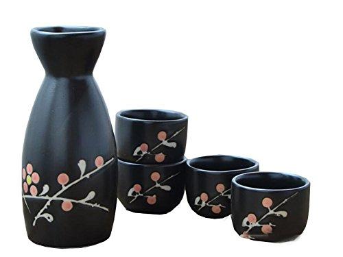5 PCS Liqueur Japonaise Sake Set Porcelaine Traditionnelle en céramique Coupes Artisanat Température Verres à vin-A16