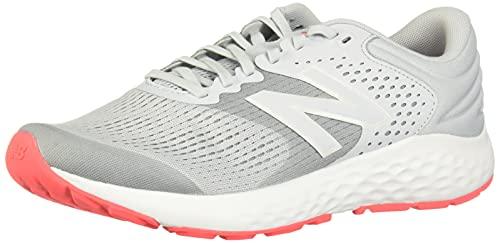 New Balance Women's 520 V7 Running Shoe, Grey/Dark Grey/Pink, 9