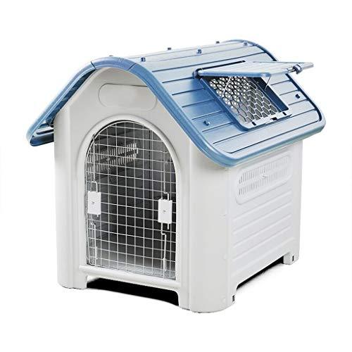 YIXIN2013SHOP Hundekisten/Zwinger Kennel Haus im Freien Regenschutz aus Kunststoff Dog House Four Seasons Allgemeine Indoor-Hundehaus mit Dachfenster Haustierkäfig