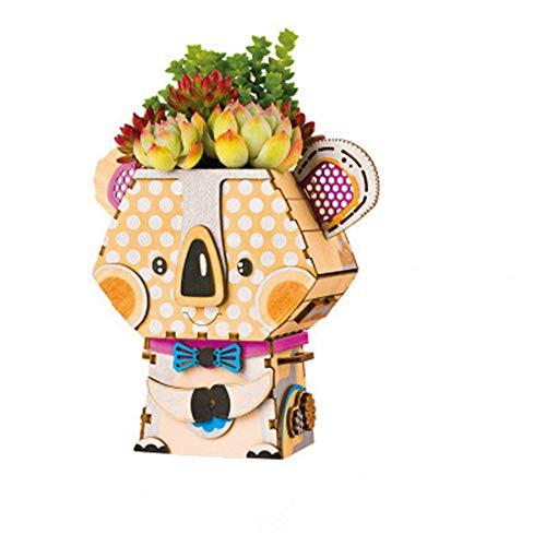 NBLYW Kinderen Bloempot van Driedimensionale Puzzel Plezier Activiteit Puzzel Met de hand gemonteerd Model DIY Geschikt Kleine Bloem/Plant/Cactus/Bonsai Bevat