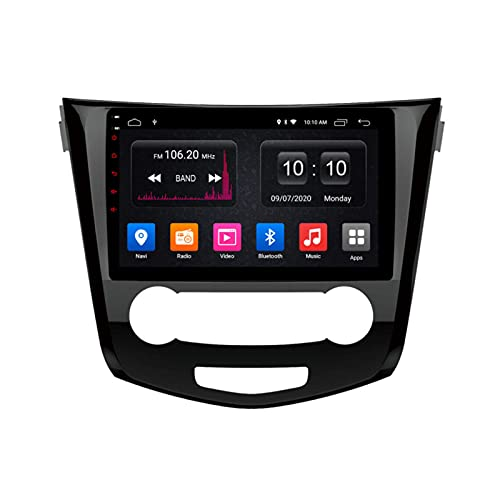 Coche Radio Stéreo Sat nav Para Qashqai 2016 Android 10.0 GPS Navegación Multimedia Player Pantalla Táctil Soporte 4G+Wifi/SWC/Carplay/Bluetooth/DSP/enlace espejo,4 Core WiFi: 2+32GB
