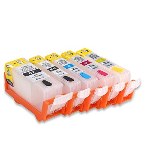hemei @ PGI-525CLI-526leer nachfüllbar Tintenpatrone für Canon Pixma MG5250MG5350MG5150iP4850iP4950MX895MX885IX6550MX715Drucker 5x Qualität Tintenpatrone