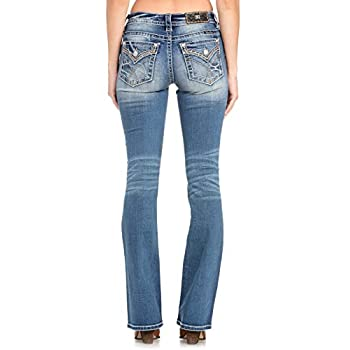 Miss Me - - Damen Mid Rise Slim Boot Jeans