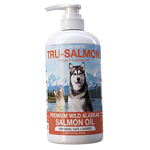 All Natural & Pure Wild Alaskan Salmon Oil for Dogs, Cats and Horses   Rich in EPA + DHA   Anti inflammatory   Supports Joint Function   Skin & Coat   Non GMO   cGMP Certified   Made in USA (16 oz)
