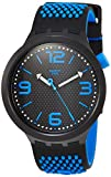 Swatch Herren Analog Quarz Uhr mit Silikon Armband SO27B101