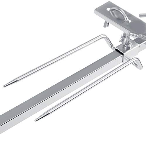 Portable Rotisserie Kit, Meat Forks Made of Stainless Steel Balance Kit 15W for Camp Fires