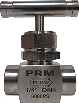 """Prm 1/4"""" Npt Needle Valve; 304 Stainless Steel; 6000 Psi from PRM"""