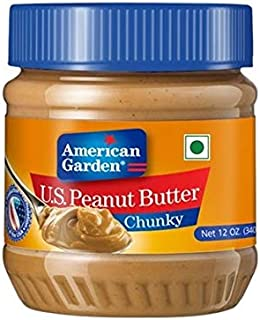 American Garden Chunky Peanut Butter, 340 gm