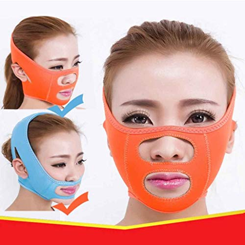 Soins du Visage Visage Minceur Chin Cheek Masque Lift V Face Line Ceinture Strap Visage Slim Mask (Color : Blue)