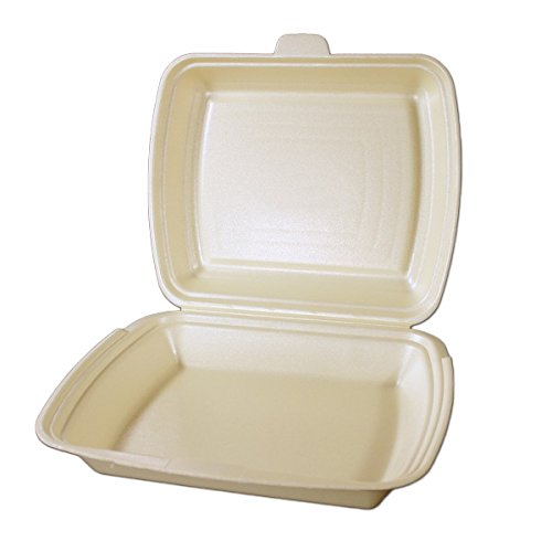 250 Menüboxen, ungeteilt creme, beige 240x200x69mm, HP4 Imbissboxen, Menübox, Lunchbox, Außerhausbox