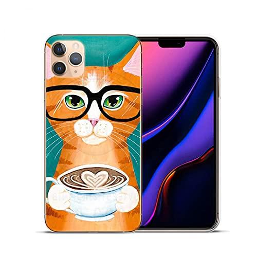 Lindo Latte acrílico café leche bebida botella gato suave silicona cubierta para iPhone 11 12 Pro Max X XS Max XR 6S 7 8 Plus 5S SE