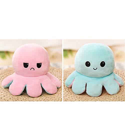 Plüsch Spielzeug Octopus Plüschtier Oktopus Kuscheltier Zum Wenden Kreative Stofftier Spielzeuggeschenke für Kinder Familie Freunde (C)