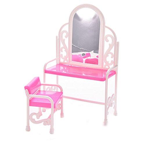 keepingup 1 Satz Schminktisch Stühle für Barbie Lustiges Spielzeuge für Spielen Haus
