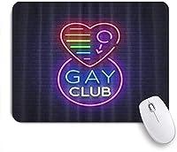 MISCERY マウスパッド LGBTゲイクラブ 高級感 おしゃれ 防水 端ステッチ 耐久性が良い 滑らかな表面 滑り止めゴム底 24cmx20cm