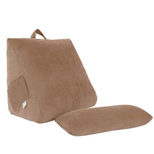 Buis top Memory Foam Terug Wigkussen, driehoekige wig Lumbar Pad Office stoel rust kussen Bolster Lezen Kussen Voor Sofa Bed Daybed