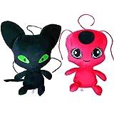 ROYAL WIND Miraculous Ladybug Plush Plagg and Tikki Plush Doll Ladybug Cat Animal Doll - 2Pcs/Set