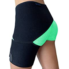 PROMOTES MUSCLE & JOINT RECOVERY: Hip stabilizer and groin brace provides sciatic nerve pain relief, SI joint pain relief and helps to speed up healing from groin pull, hip flexor injury, pulled quad, hamstring pull, hip bursitis, labral tear, or oth...