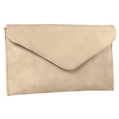CASPAR TA310 Damen Envelope Clutch, Farbe:creme weiss