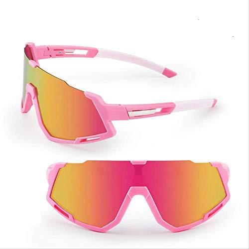 Gafas de ciclismo Gafas se pueden emparejar con la miopía enmarcadas al aire libre Ciclismo polvo lentes rosa