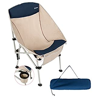 KingCamp Camping Chair Heavy Duty Folding Chair with Cotton Padding, Portable Compact for Outdoor Picnic (Blue/Beige) (B0784WHJTN) | Amazon price tracker / tracking, Amazon price history charts, Amazon price watches, Amazon price drop alerts
