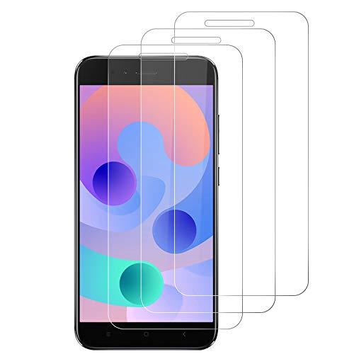RIIMUHIR Paquete De 3 Vidrio Templado para Xiaomi Mi A1 / 5X, HD Transparente, Anti-arañazos, Alta Sensibilidad, Anti-Burbujas, Protector De Pantalla HD Clear Film
