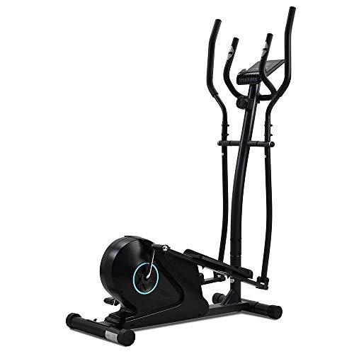 Autoshoppingcenter Bicicletas Elípticas Magnéticas para Casa Gimnasia Fitness Trainer 8 Niveles de Resistencia Volante Inercia 5kg Pantalla LCD y Soporte Tablet Pedales Antideslizantes [EU Stock]