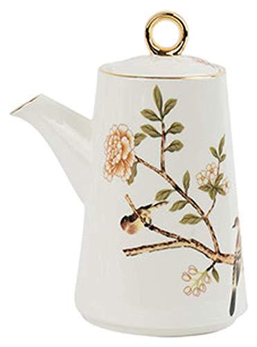 El aceite puede olivar o vinagre anti-fuga, Conjunto de botellas de aceite Dispensador de cerámica Vinagre de vinagre de porcelana, con escape de coloques a prueba de fugas, acuarela británica floral