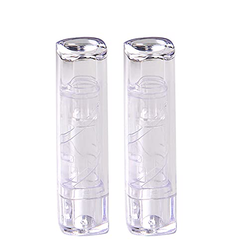Tubos de lápiz Labial Recargables, Mini Botella de lápiz Labial vacía, 20 Piezas Transparente Mini Tubo de lápiz Labial vacío contenedor de Botella de bálsamo Labial DIY, 7,4 * 1,8 CM