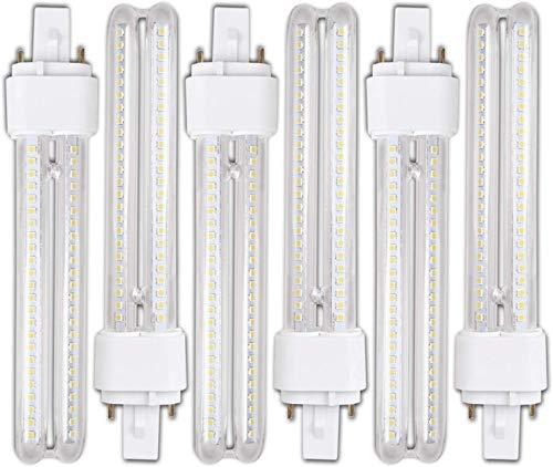 Genetic H268 15W- Pack 6 Bombillas PLC LED 15W Luz Fria A+ G24-3 2Pin H268